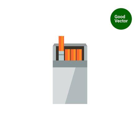 cigarette pack: Vector icon of open cigarette pack