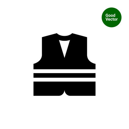 life jackets: Safety vest icon Illustration