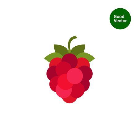 ripe: Vector icon of single ripe fresh raspberry Illustration