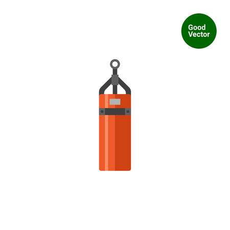 Multicolored vector icon of cylindrical punching bag