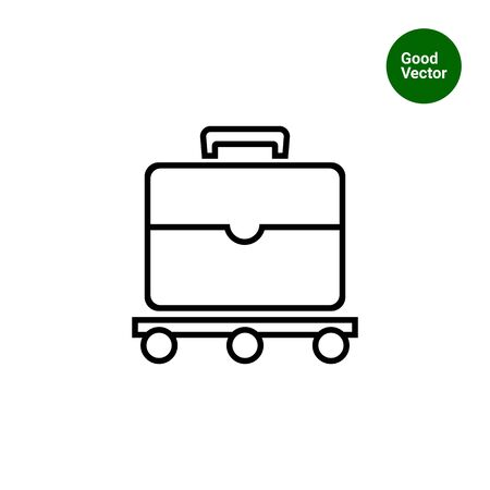 baggage: Icon of suitcase moving on luggage carousel Illustration