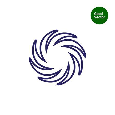 glaring: Icon of sun with swirl beams