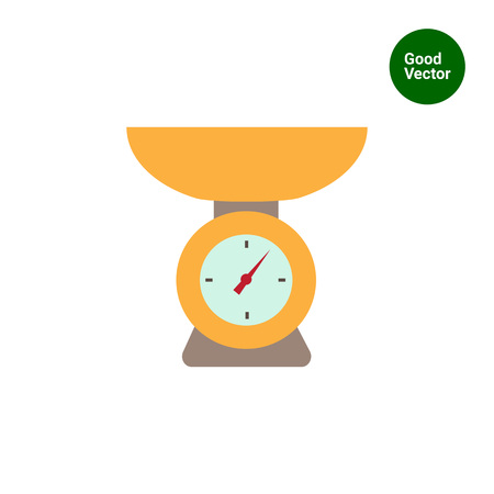 weighing scales: Weighing scales icon Illustration