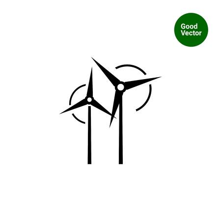 turbines: Wind turbines icon Illustration