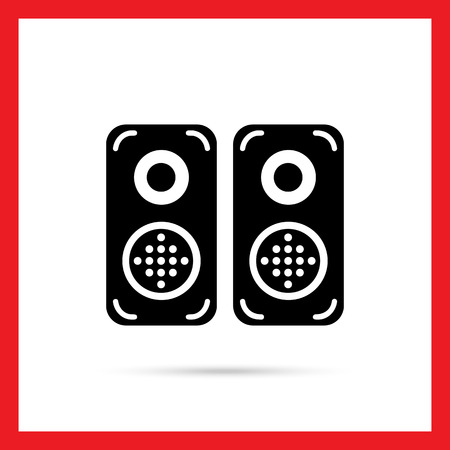 acoustics: Acoustics speakers icon Illustration