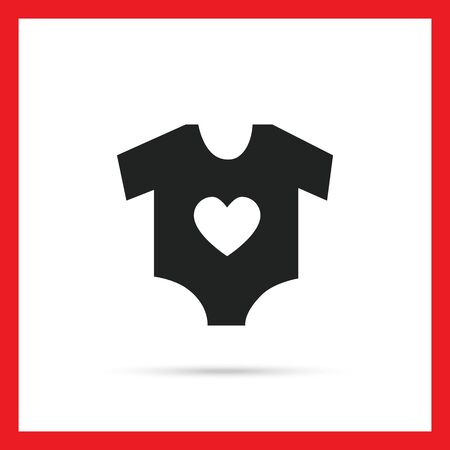 Icon of baby onesie with heart print