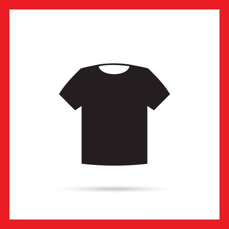 t short: Vector icon of classic unisex t-shirt silhouette