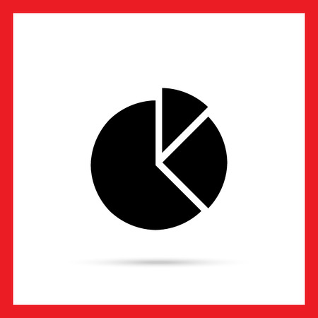 segments: Vector icon of circular diagram with separate segments Illustration