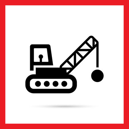 ball and chain: Icon of crane with wrecking ball