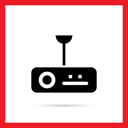 projector: Icon of digital projector Illustration