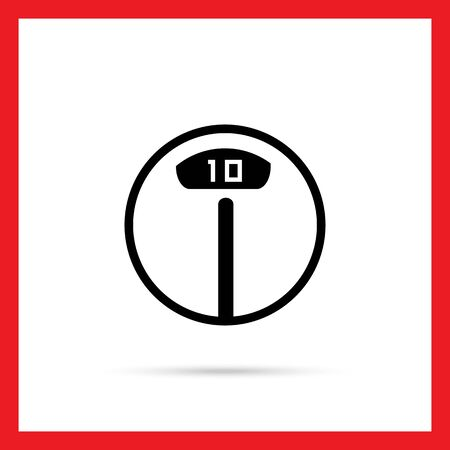 numbers icon: Icon of electronic floor scales with numbers indication