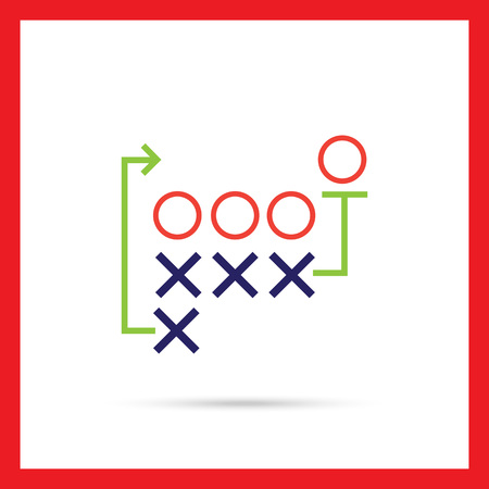 tactics: Icon of football tactics plan