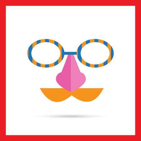 spectacles: Icon of mask with moustache, nose and spectacles Illustration