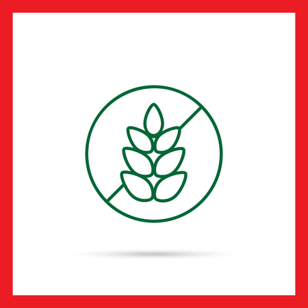 free backgrounds: Icon of gluten free sign with crossed wheat ear in circle