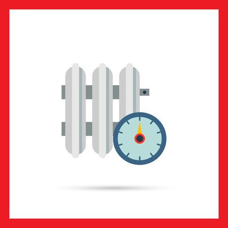Vektor-Symbol der Heizkörper mit Temperaturregler