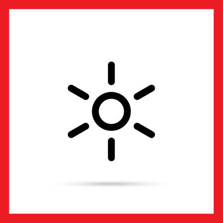 depicting: Vector icon of hot sign depicting sun