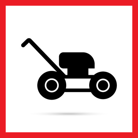 mower: Lawn mower icon Illustration