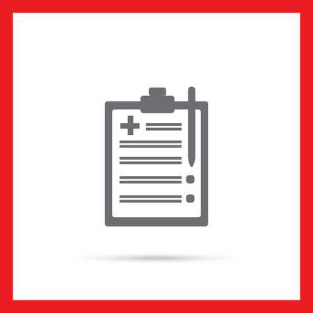 medical clipboard: Icon of medical report on clipboard Illustration