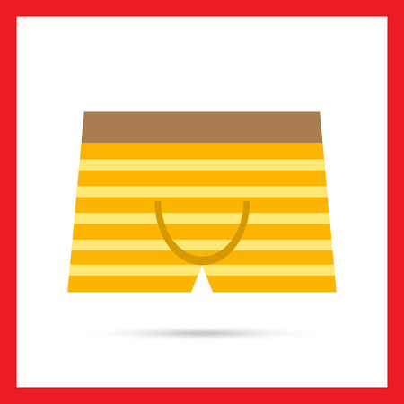 underpants: Icon of striped male underpants Illustration