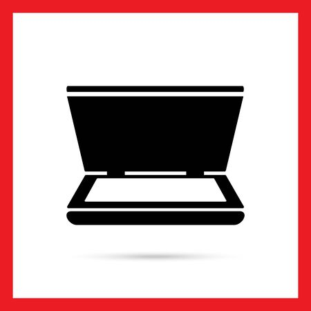 scanner: Vector icon of scanner with open cover