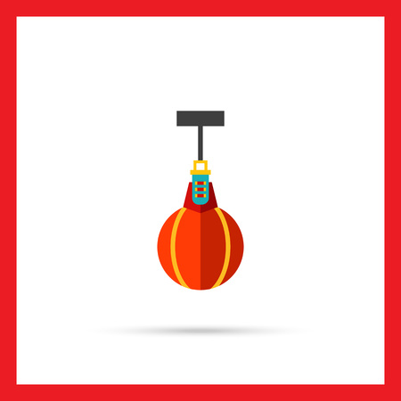 Scope: Multicolored vector icon of scope punching bag