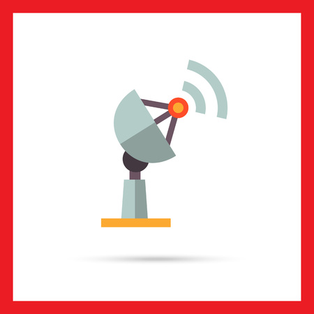 receiving: Multicolored vector icon of antenna receiving signal Illustration