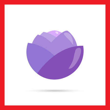 rational: Vector icon of single red cabbage head Illustration