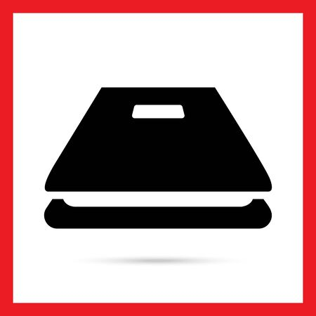 scanner: Icon of open scanner