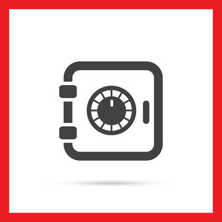storing: Safe box icon Illustration