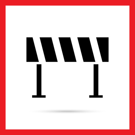 road barrier: Road barrier icon