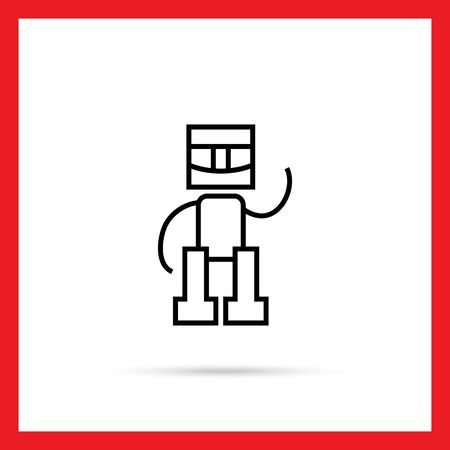 robot toy: Icon of robot toy