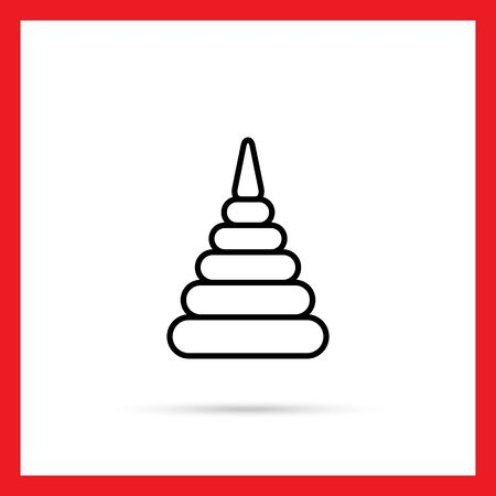 stacking: Stacking toy icon
