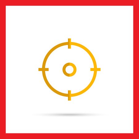 sight: Icon of sight in circle