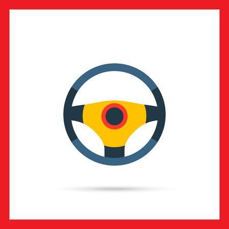 Ikona kierownicy Ilustracje wektorowe