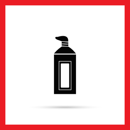 toothpaste tube: Vector icon of open toothpaste tube with some paste Illustration