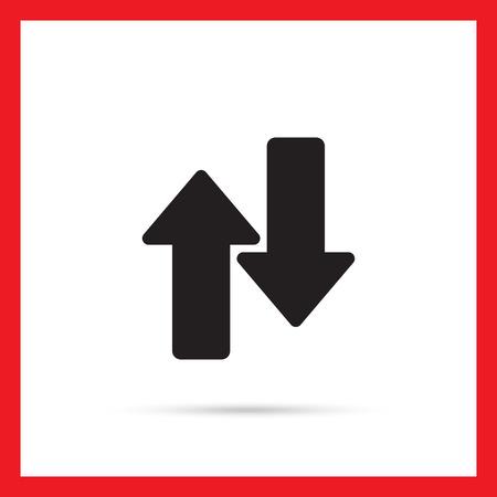 upwards: Icon of upwards and downwards arrows