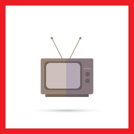 tv set: Icon of retro TV set