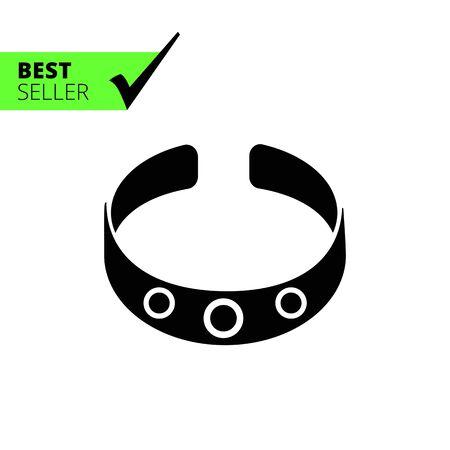 gem: Vector icon of bracelet with gem stones