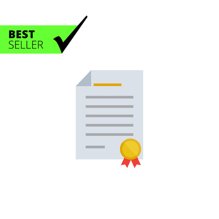 certifying: Certificate icon Stock Photo