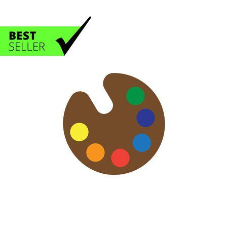 paleta: Vector icono de la paleta de dibujo con varias muestras de pintura Vectores