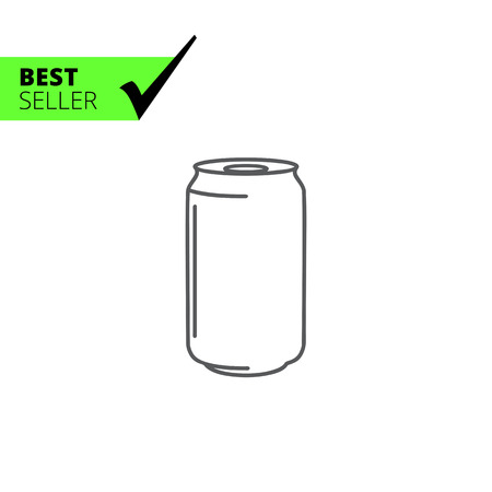 storing: Icon of aluminum can