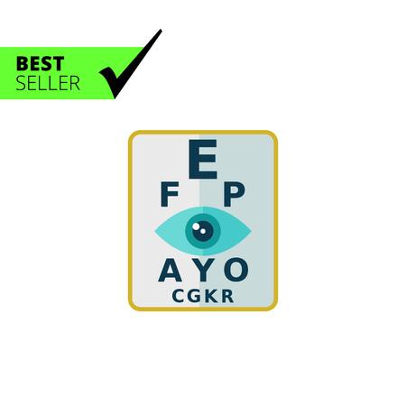 eyesight: Multicolored vector icon of stylized sign of eyesight check Illustration
