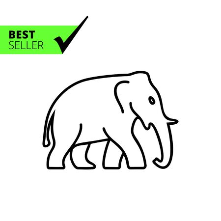 profile silhouette: Elephant icon Illustration