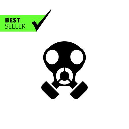 mascara de gas: Icono de máscara de gas