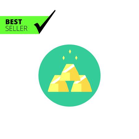 gold bars: Gold bars icon