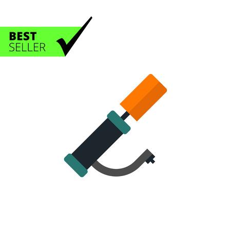 air pump: Multicolored vector icon of hand air pump Illustration