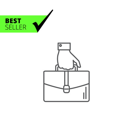 Icon of man hand carrying briefcase
