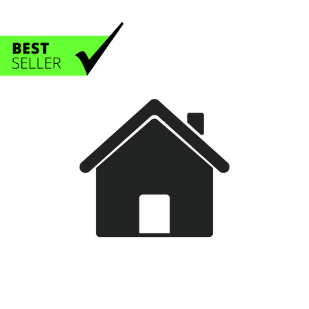 Icon of house, homepage symbol