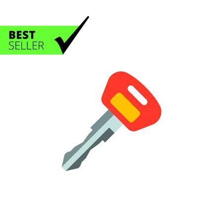 ignition: Ignition key icon Illustration