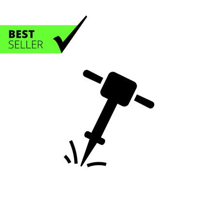 jackhammer: Icon of working jackhammer